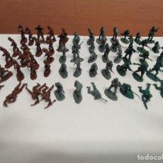 Figuras de Goma y PVC: LOTE DE 80 SOLDADITOS DE PLASTICO SIMILARES A MONTAPLEX. Lote 211924510