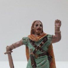Figuras de Goma y PVC: VIKINGO . REALIZADO POR JECSAN . ORIGINAL AÑOS 50 EN GOMA. Lote 211944653