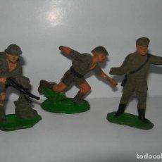 Figuras de Goma y PVC: LOTE DE 3 SOLDADOS DE COMANSI DE LA COLECCIÓN EL PUENTE SOBRE EL RIO KWAI - AÑOS 60 -. Lote 211957292