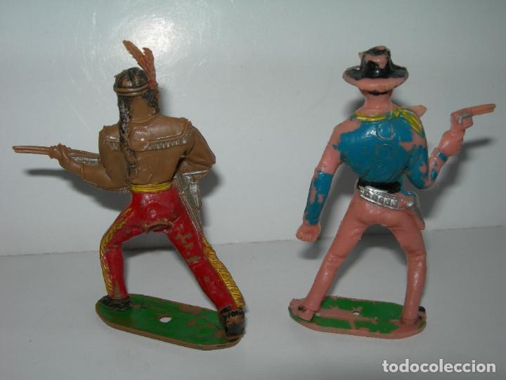Figuras de Goma y PVC: LOTE DE 6 FIGURAS DE COMANSI DE LOS AÑOS 60/70 MÁS 1 DE REGALO - SOLDADOS, INDIO, VAQUERO, CABALLO - - Foto 4 - 211960592