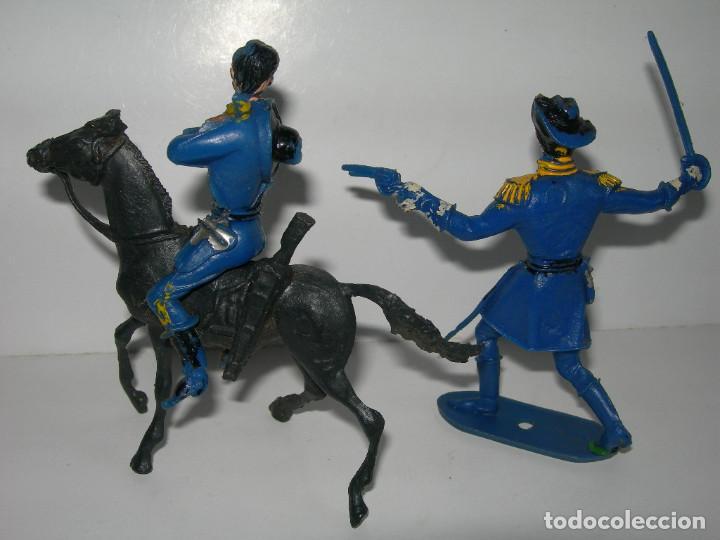 Figuras de Goma y PVC: LOTE DE 6 FIGURAS DE COMANSI DE LOS AÑOS 60/70 MÁS 1 DE REGALO - SOLDADOS, INDIO, VAQUERO, CABALLO - - Foto 6 - 211960592