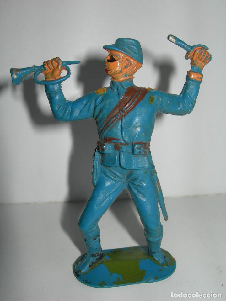 Figuras de Goma y PVC: LOTE DE 6 FIGURAS DE COMANSI DE LOS AÑOS 60/70 MÁS 1 DE REGALO - SOLDADOS, INDIO, VAQUERO, CABALLO - - Foto 8 - 211960592