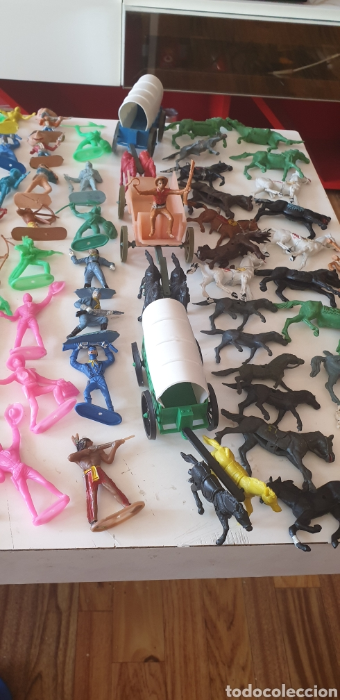 Figuras de Goma y PVC: LOTE 140 VAQUERO INDIO CABALLO SOLDADO CARRO AÑOS 60 COMANSI REAMSA JECSA PECH - Foto 3 - 211960658