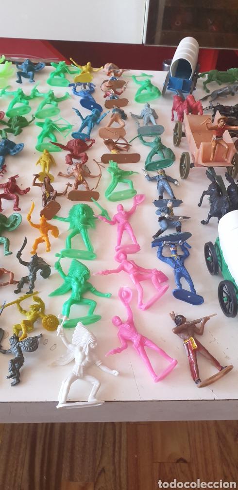 Figuras de Goma y PVC: LOTE 140 VAQUERO INDIO CABALLO SOLDADO CARRO AÑOS 60 COMANSI REAMSA JECSA PECH - Foto 4 - 211960658