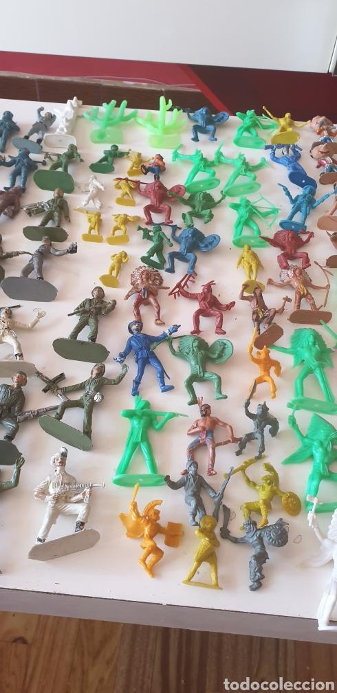 Figuras de Goma y PVC: LOTE 140 VAQUERO INDIO CABALLO SOLDADO CARRO AÑOS 60 COMANSI REAMSA JECSA PECH - Foto 5 - 211960658