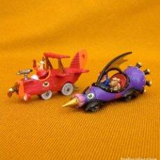 Figuras de Goma y PVC: DUNKIN DE LUXE / 2 AUTOS LOCOS HANNA-BARBERA. Lote 211981763