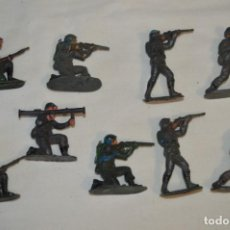 Figuras de Goma y PVC: 9 SOLDADOS JECSAN / CASCOS AZULES / SOBRE 5 / 6 CM. ALTURA ¡MIRA FOTOS Y DETALLES!. Lote 212018930