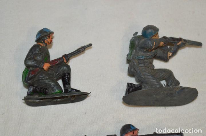 Figuras de Goma y PVC: 9 Soldados JECSAN / CASCOS AZULES / Sobre 5 / 6 Cm. altura ¡Mira fotos y detalles! - Foto 2 - 212018930