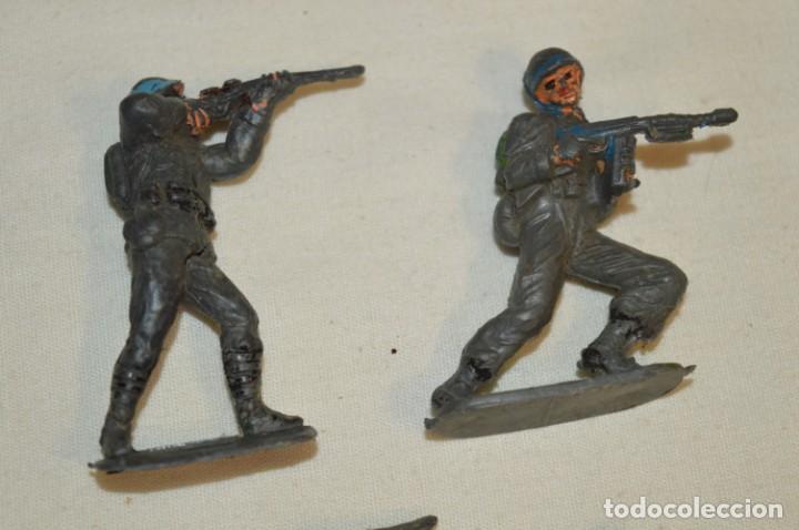Figuras de Goma y PVC: 9 Soldados JECSAN / CASCOS AZULES / Sobre 5 / 6 Cm. altura ¡Mira fotos y detalles! - Foto 3 - 212018930