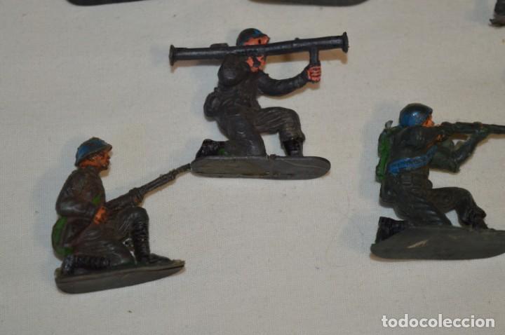 Figuras de Goma y PVC: 9 Soldados JECSAN / CASCOS AZULES / Sobre 5 / 6 Cm. altura ¡Mira fotos y detalles! - Foto 4 - 212018930