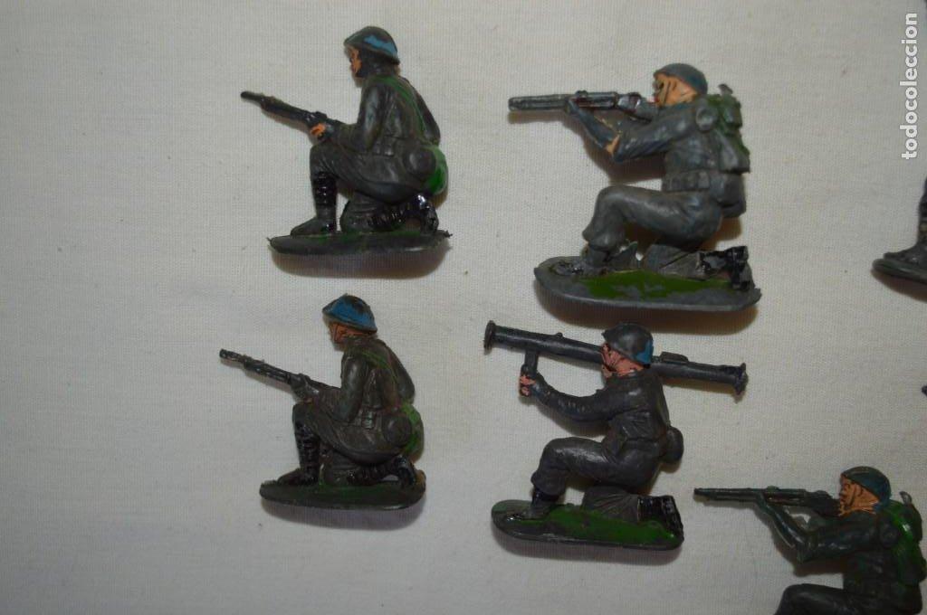 Figuras de Goma y PVC: 9 Soldados JECSAN / CASCOS AZULES / Sobre 5 / 6 Cm. altura ¡Mira fotos y detalles! - Foto 6 - 212018930