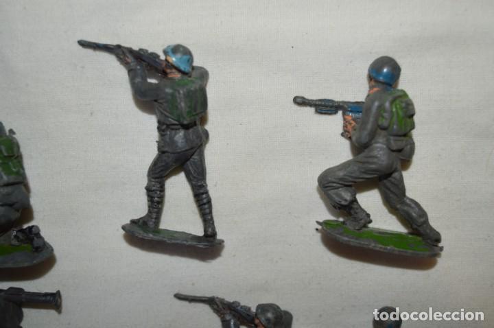 Figuras de Goma y PVC: 9 Soldados JECSAN / CASCOS AZULES / Sobre 5 / 6 Cm. altura ¡Mira fotos y detalles! - Foto 7 - 212018930