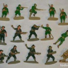 Figuras de Goma y PVC: 15 SOLDADOS JAPONESES Y OTROS / SOBRE 4 / 5 CM. ALTURA ¡MIRA FOTOS Y DETALLES!. Lote 212020432