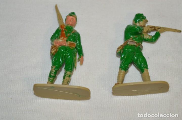 Figuras de Goma y PVC: 15 Soldados JAPONESES y OTROS / Sobre 4 / 5 Cm. altura ¡Mira fotos y detalles! - Foto 2 - 212020432