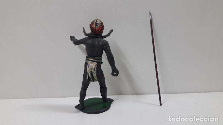 Figuras de Goma y PVC: GUERRERO AFRICANO . REALIZADO POR GAMA . SERIE GRANDE . AÑOS 50 EN GOMA - Foto 6 - 212022702