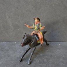Figuras de Goma y PVC: REAMSA COWBOY CON CABALLO GOMA. Lote 212026931