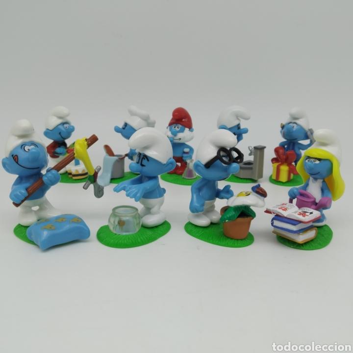 Figuras Kinder: Colección completa los PITUFOS Magic Kinder, Kinder Sorpresa - Ferrero año 2008 - Foto 2 - 212028302