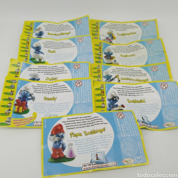 Figuras Kinder: Colección completa los PITUFOS Magic Kinder, Kinder Sorpresa - Ferrero año 2008 - Foto 5 - 212028302