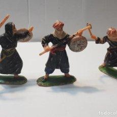 Figuras de Goma y PVC: FIGURAS JECSAN SERIE MÍO CID ARABES. Lote 212031285