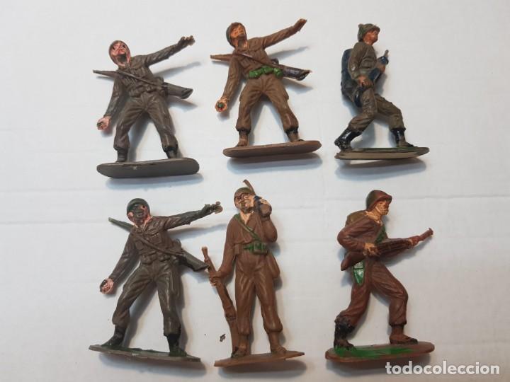 Figuras de Goma y PVC: Figuras Jecsan Marines y Japoneses lote 6 - Foto 2 - 212031586