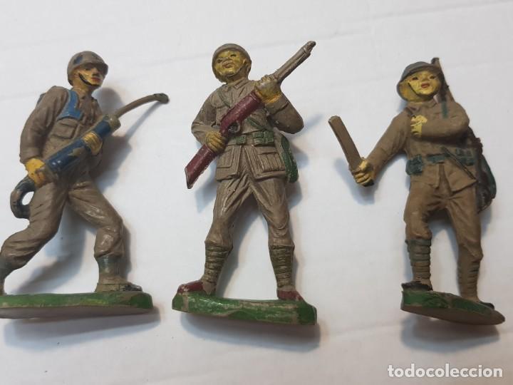Figuras de Goma y PVC: Figuras en Goma Pech lote 3 Japoneses escasos - Foto 2 - 212032306