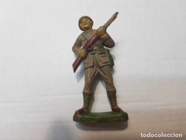 Figuras de Goma y PVC: Figuras en Goma Pech lote 3 Japoneses escasos - Foto 3 - 212032306