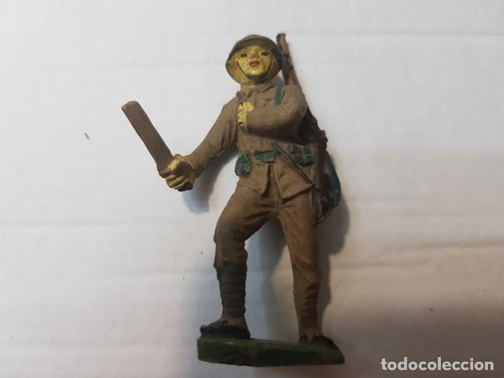 Figuras de Goma y PVC: Figuras en Goma Pech lote 3 Japoneses escasos - Foto 4 - 212032306