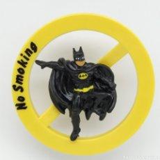 Figuras de Goma y PVC: CURIOSO DISCO - FIGURA BULLY EN LA QUE BATMAN PROHIBE FUMAR. NO SMOKING.. Lote 212038032