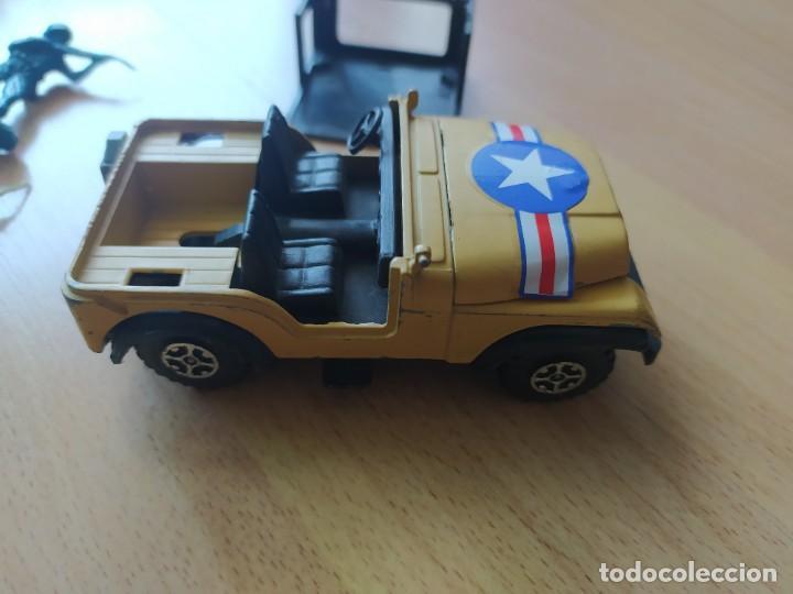 Figuras de Goma y PVC: Soldados de plástico antiguos y Jeep para maqueta o diorama militar de soldaditos - Foto 4 - 212254426