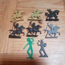 Figuras de Goma y PVC: LOTE INDIOS Y VAQUEROS PLANOS. Lote 212304041
