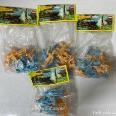 Figuras de Goma y PVC: LOTE DE 4 PAQUETES CERRADOS DE THUNDERBIRDS. COMANSI. NUEVOS. VER FOTOS.. Lote 212357792
