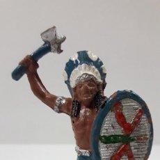 Figuras de Goma y PVC: JEFE INDIO . REALIZADO POR LAFREDO . ORIGINAL AÑOS 50 EN GOMA. Lote 212400755