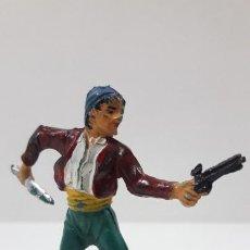 Figuras de Goma y PVC: PIRATA . REALIZADO POR PECH . SERIE PIRATAS . ORIGINAL AÑOS 50 EN GOMA. Lote 212407961