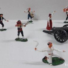 Figuras de Goma y PVC: GERRILLEROS - AGUSTINA DE ARAGON Y CAÑON . REALIZADOS POR PECH GUERRA DE LA INDEPENDENCIA . AÑOS 60. Lote 212436222