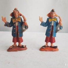 Figuras de Goma y PVC: LOTE 2 PAYASOS CON SAXOFON CIRCO JECSAN, AÑOS 60. JECSAN. Lote 212515547