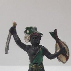 Figuras de Goma y PVC: GUERRERO NEGRO AFICANO . REALIZADO POR GAMA . SERIE GUERREROS AFRICANOS . ORIGINAL AÑOS 50 EN GOMA. Lote 212516156