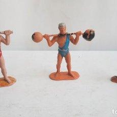 Figuras de Goma y PVC: LOTE FIGURAS DEL CIRCO JECSAN FORZUDOS MAS MOZO DE PISTA. JECSAN.. Lote 212573368