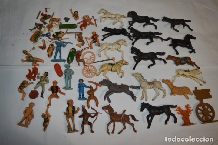 OESTE - YANKEE, VAQUEROS INDIOS Y CABALLOS / PLÁSTICO/PVC - COMANSI, OLIVER, PUIG, PECH, JECSAN ... (Juguetes - Figuras de Goma y Pvc - Otras)