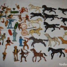 Figuras de Goma y PVC: OESTE - YANKEE, VAQUEROS INDIOS Y CABALLOS / PLÁSTICO/PVC - COMANSI, OLIVER, PUIG, PECH, JECSAN .... Lote 212688550