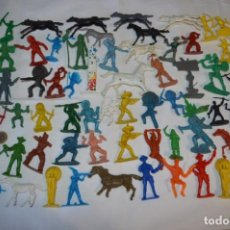 Figuras de Goma y PVC: INDIOS Y VAQUEROS, 75 PIEZAS / PLÁSTICO/PVC - COMANSI, OLIVER, PUIG, PECH, JECSAN, OTRAS ... ¡MIRA!. Lote 212714138
