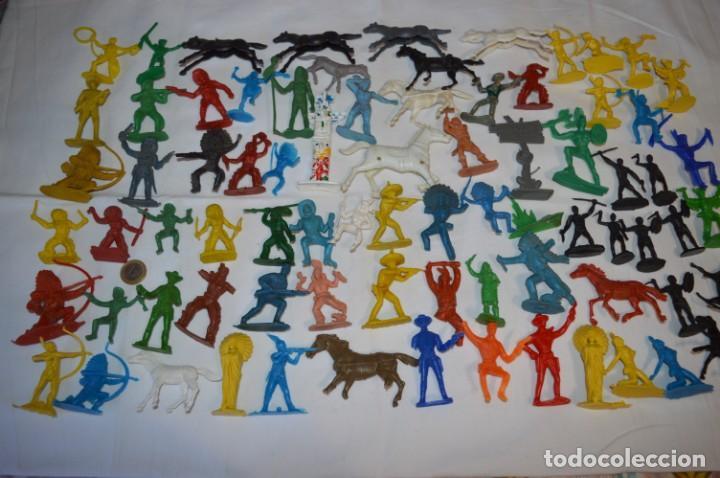 Figuras de Goma y PVC: INDIOS y VAQUEROS, 75 piezas / Plástico/PVC - COMANSI, OLIVER, PUIG, PECH, JECSAN, otras ... ¡Mira! - Foto 2 - 212714138