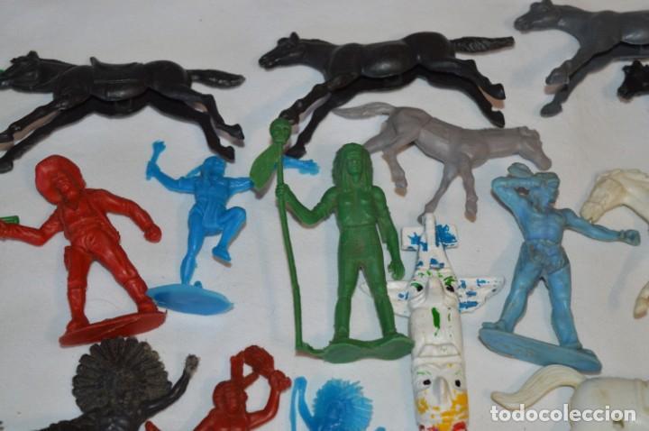 Figuras de Goma y PVC: INDIOS y VAQUEROS, 75 piezas / Plástico/PVC - COMANSI, OLIVER, PUIG, PECH, JECSAN, otras ... ¡Mira! - Foto 4 - 212714138