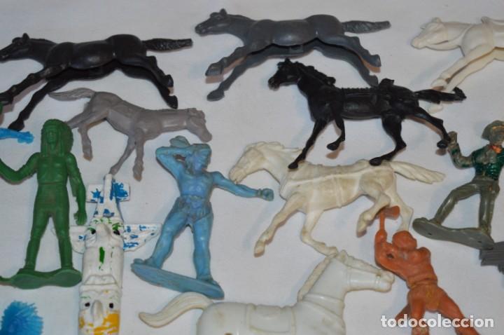 Figuras de Goma y PVC: INDIOS y VAQUEROS, 75 piezas / Plástico/PVC - COMANSI, OLIVER, PUIG, PECH, JECSAN, otras ... ¡Mira! - Foto 5 - 212714138