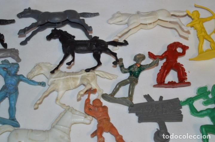 Figuras de Goma y PVC: INDIOS y VAQUEROS, 75 piezas / Plástico/PVC - COMANSI, OLIVER, PUIG, PECH, JECSAN, otras ... ¡Mira! - Foto 6 - 212714138