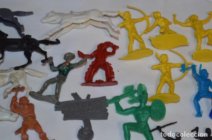 Figuras de Goma y PVC: INDIOS y VAQUEROS, 75 piezas / Plástico/PVC - COMANSI, OLIVER, PUIG, PECH, JECSAN, otras ... ¡Mira! - Foto 7 - 212714138