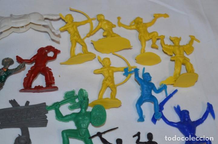 Figuras de Goma y PVC: INDIOS y VAQUEROS, 75 piezas / Plástico/PVC - COMANSI, OLIVER, PUIG, PECH, JECSAN, otras ... ¡Mira! - Foto 8 - 212714138