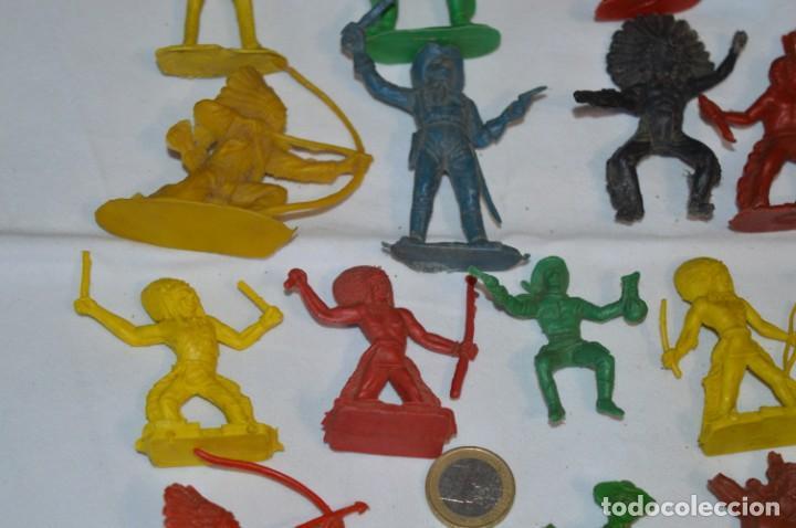 Figuras de Goma y PVC: INDIOS y VAQUEROS, 75 piezas / Plástico/PVC - COMANSI, OLIVER, PUIG, PECH, JECSAN, otras ... ¡Mira! - Foto 9 - 212714138