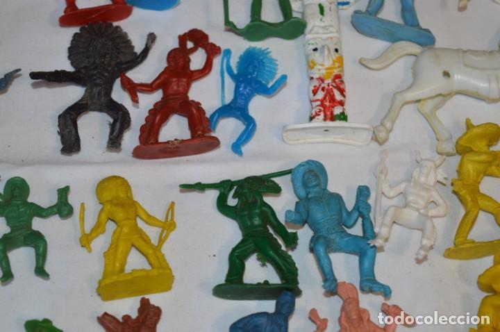 Figuras de Goma y PVC: INDIOS y VAQUEROS, 75 piezas / Plástico/PVC - COMANSI, OLIVER, PUIG, PECH, JECSAN, otras ... ¡Mira! - Foto 10 - 212714138