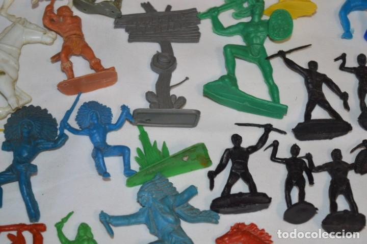 Figuras de Goma y PVC: INDIOS y VAQUEROS, 75 piezas / Plástico/PVC - COMANSI, OLIVER, PUIG, PECH, JECSAN, otras ... ¡Mira! - Foto 12 - 212714138