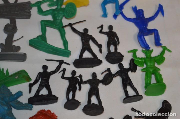 Figuras de Goma y PVC: INDIOS y VAQUEROS, 75 piezas / Plástico/PVC - COMANSI, OLIVER, PUIG, PECH, JECSAN, otras ... ¡Mira! - Foto 13 - 212714138